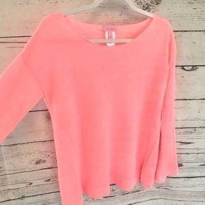 Lilly Pulitzer camilla linen sweater in guava pink